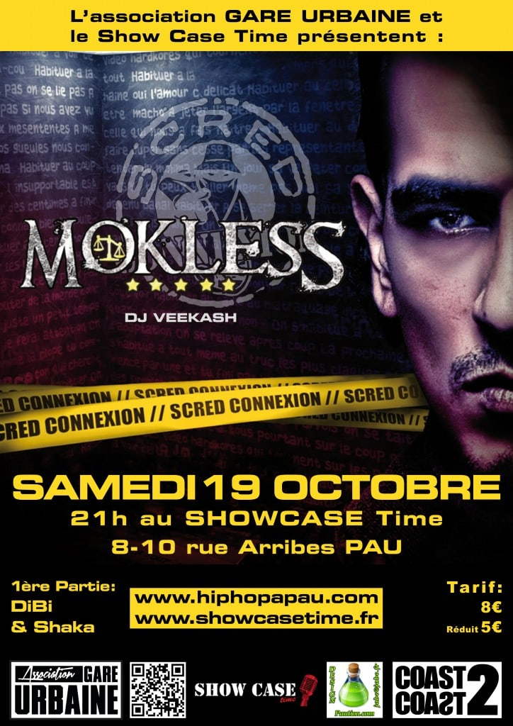 Mokless concert Pau 2013 Showcase